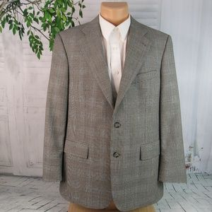 346 Brooks Brothers men's 41R blazer jacket gray